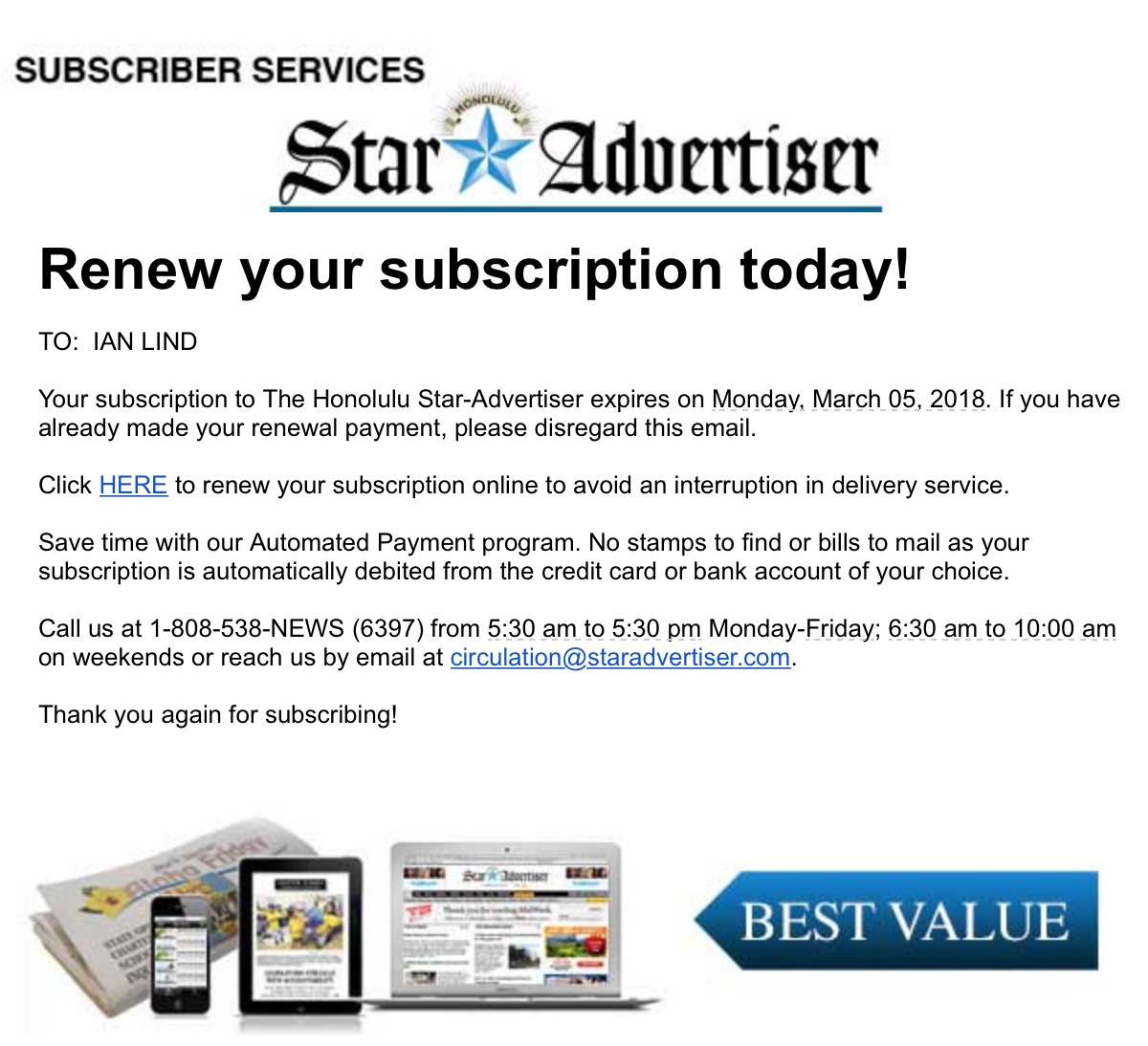 Subscription Renewal (Yearly) – April Laugh
